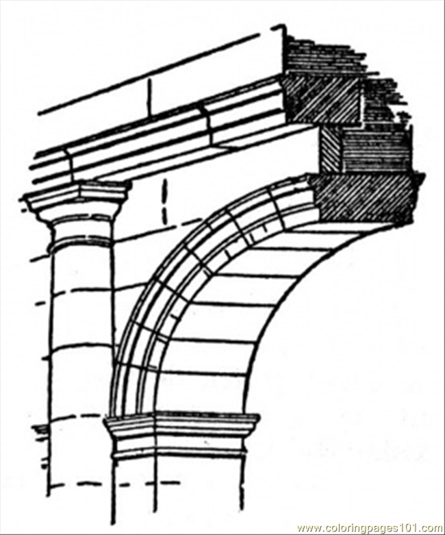 Piece Of Arch Coloring Page