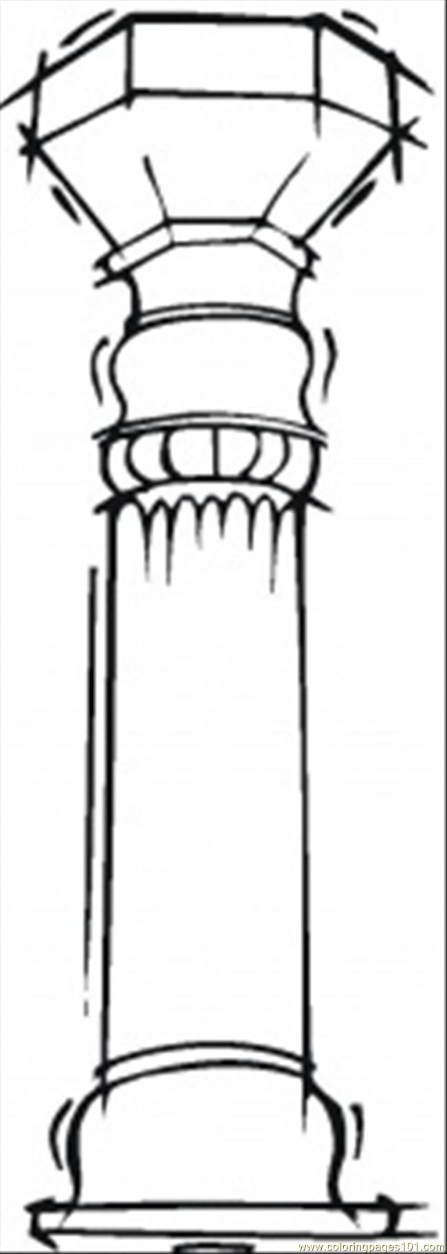 pillar coloring page free structures coloring pages
