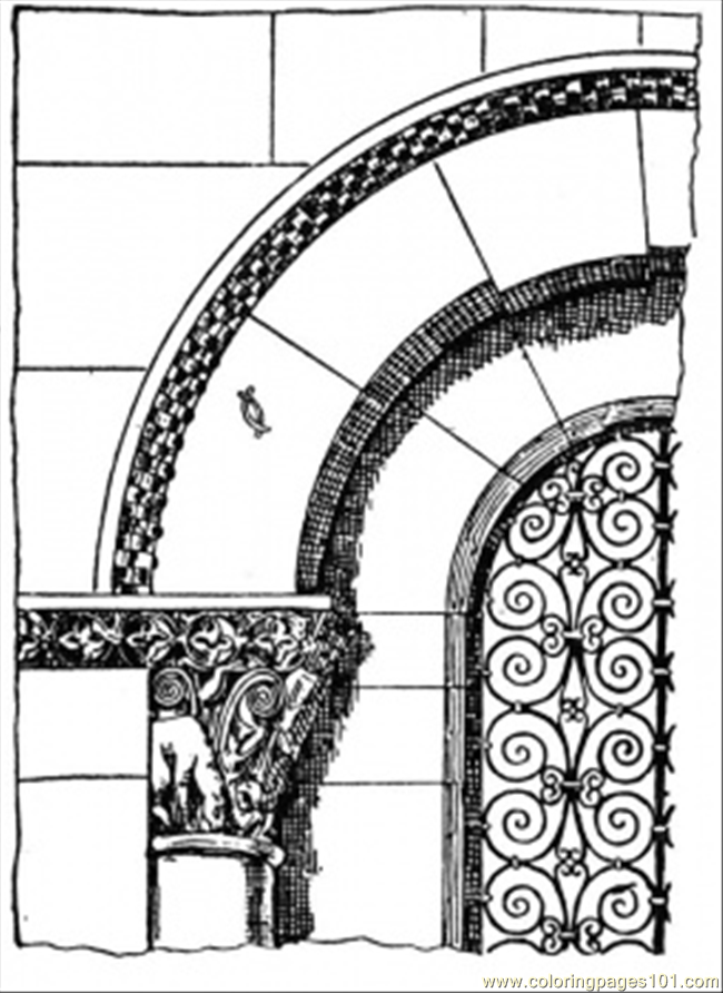 Roman Arch Coloring Page