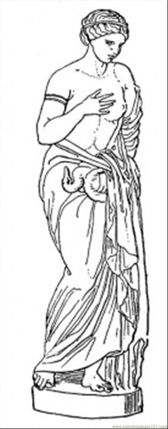 statue coloring page free structures coloring pages