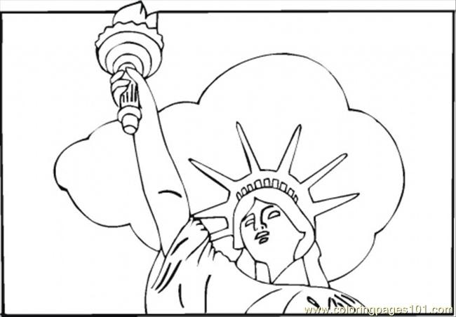 Statue Of Liberty Coloring Page Free Structures Coloring Pages Coloringpages101 Com