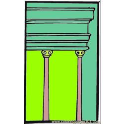 Two Pillars0 Free Coloring Page for Kids