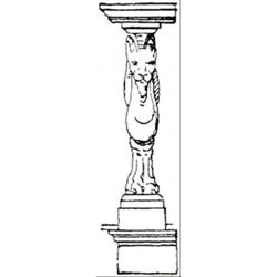 Lion Statue Free Coloring Page for Kids