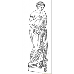 Statue coloring page