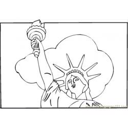 Statue Of Liberty Free Coloring Page for Kids