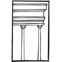Two Pillars Free Coloring Page for Kids