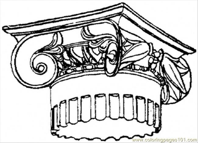 Top Of Roman Column Coloring Page