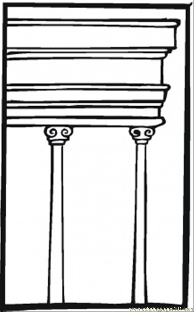 Two Pillars Coloring Page