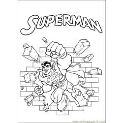 Super Friends01 Free Coloring Page for Kids