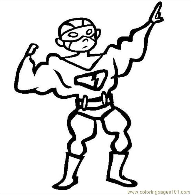 Cartoon Superhero Cartoon Superhero Coloring Pages