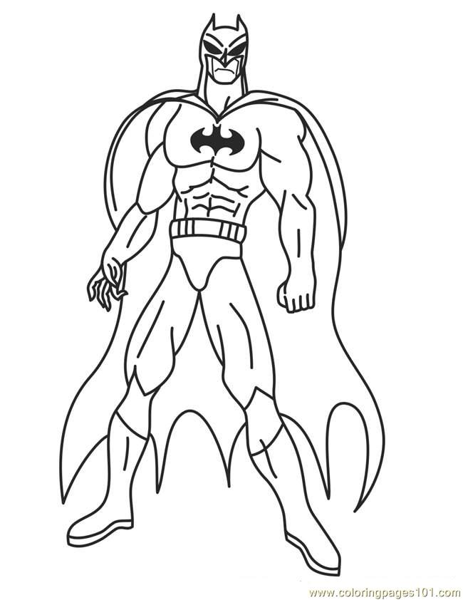 Superhero 21 Coloring Page Free Superhero Coloring Pages