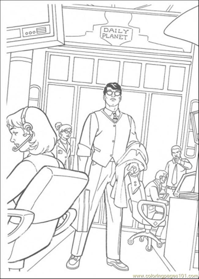 Clark In His Office Coloring Page