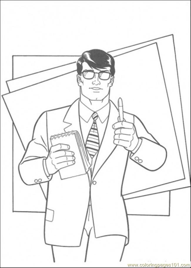 Clark Is A Journalist Coloring Page