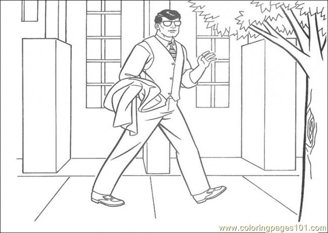 Clark Is Walking Coloring Page