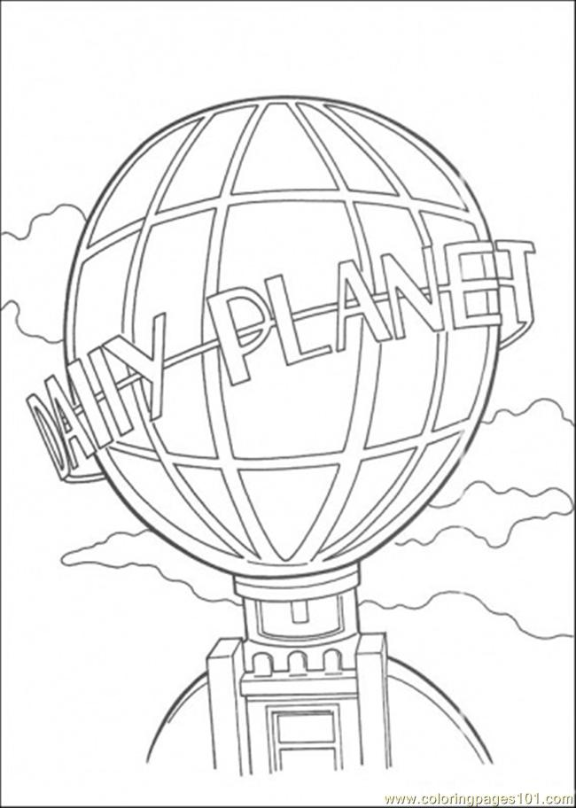 Daily Planet Building Coloring Page