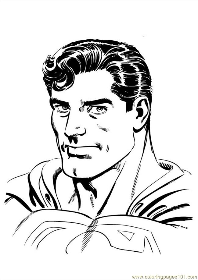 Superman 003 Coloring Page Free