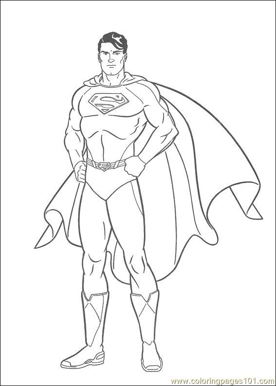 Superman 02 Coloring Page