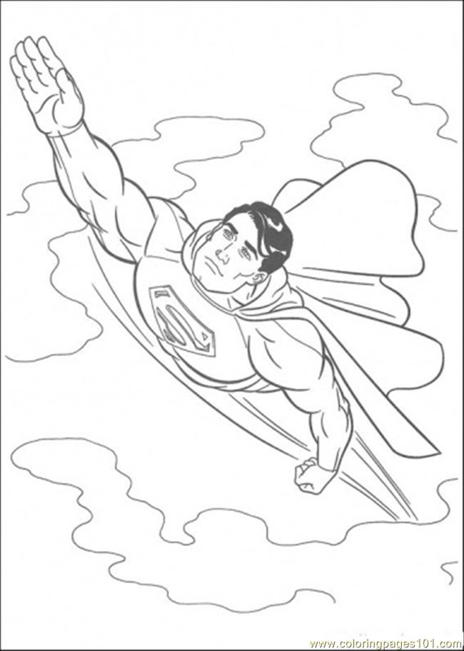 superman coloring page - Printable Coloring Pages Superman