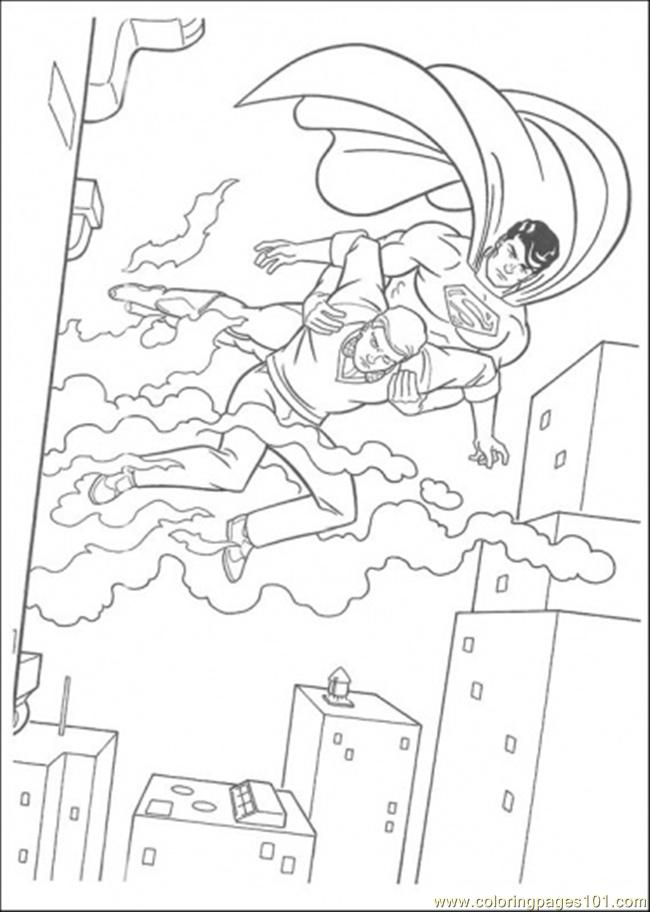 Superman Has Saved That Man Coloring Page