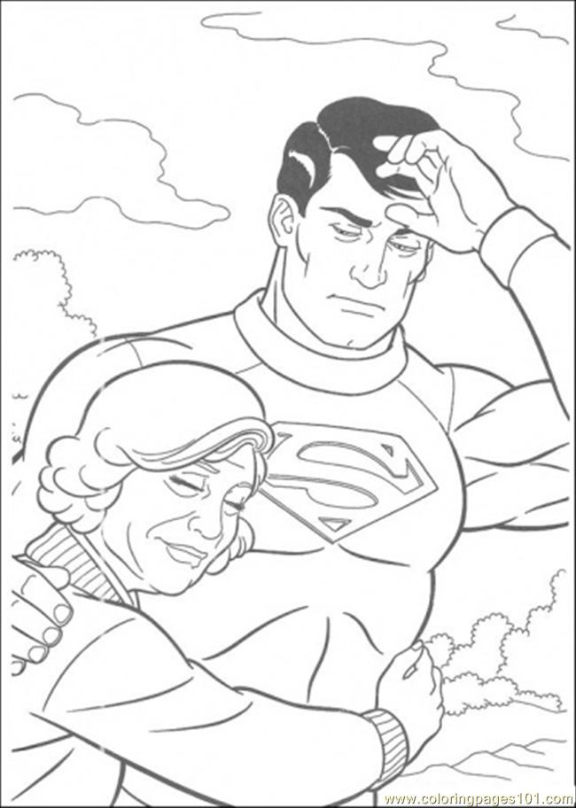 Superman Has Saved That Woman Coloring Page