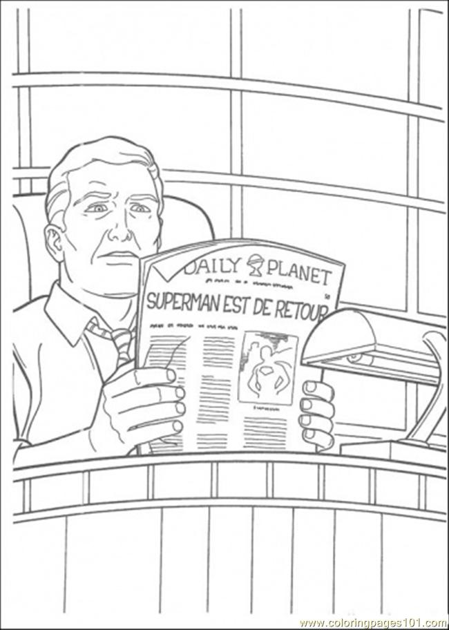 The Owner Of Daily Planet Newspaper Coloring Page