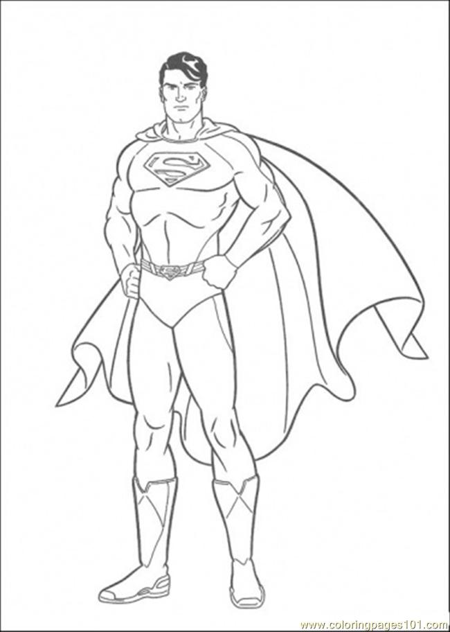 The picture of superman coloring page