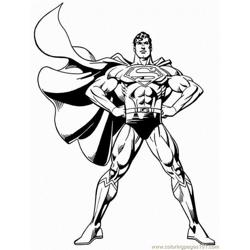 Super (7) Free Coloring Page for Kids
