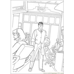 Superman 12 Free Coloring Page for Kids