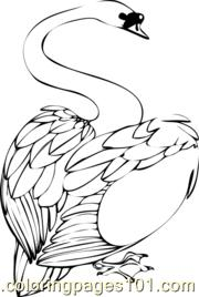 Swan Thumb Coloring Page