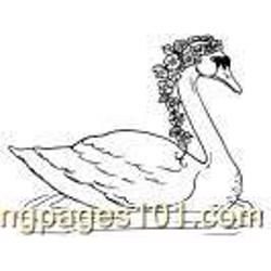 Swan172 Free Coloring Page for Kids