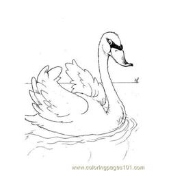 Swan 2888 Free Coloring Page for Kids