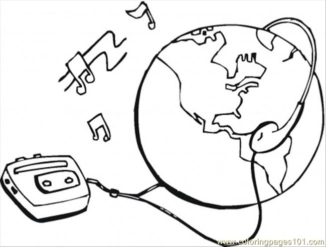 Connect With Earth Coloring Page