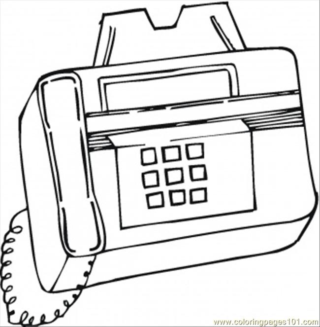 Fax Coloring Page