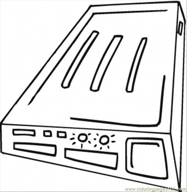 Modem For Internet Coloring Page
