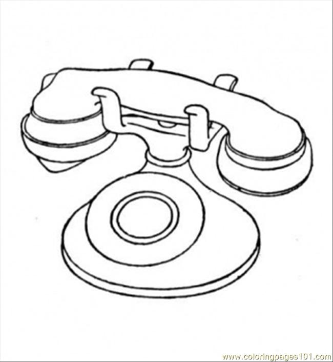 telephone coloring pages