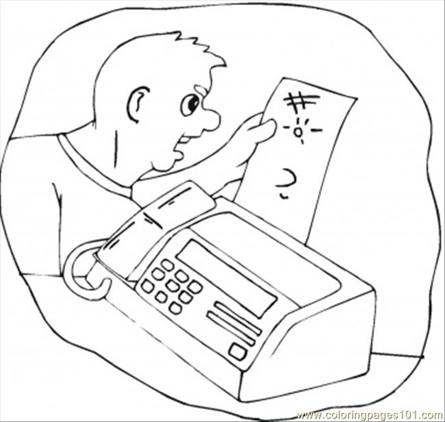 Receive The Fax Coloring Page