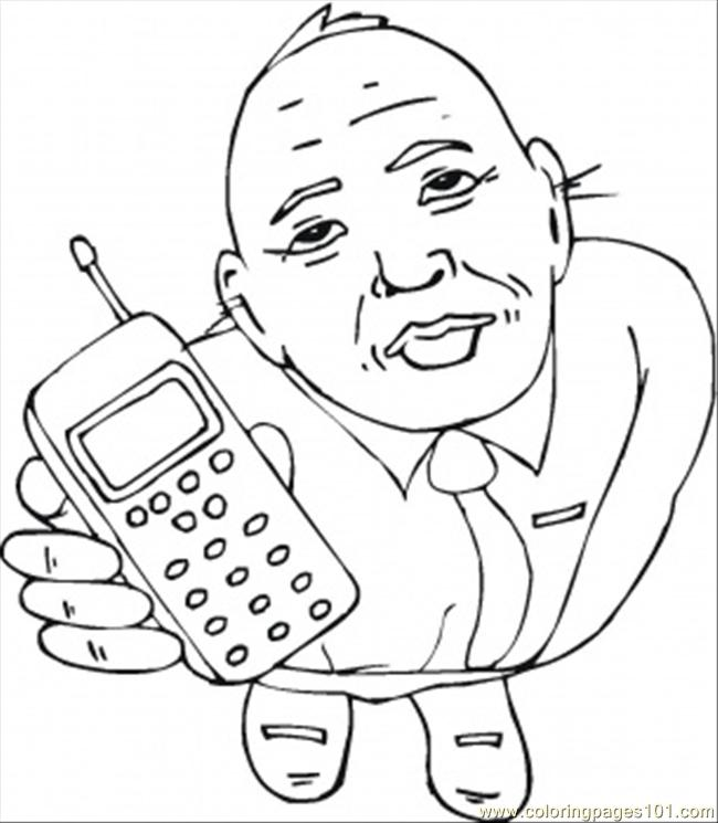 Take The Cell Phone Coloring Page