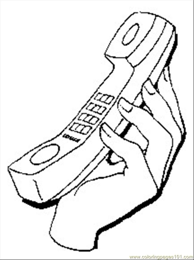 Telephone1 Coloring Page Free Telecom Coloring Pages