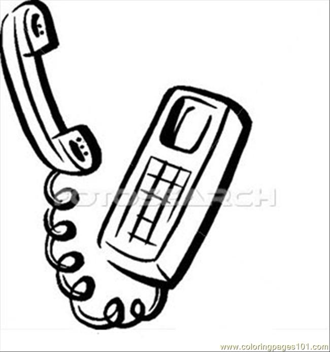 telephone b w printable coloring page for kids and adults coloring pages 101