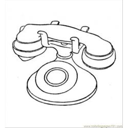 Old Telephone Free Coloring Page for Kids