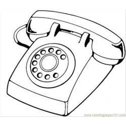 Telephone coloring page