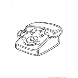 Play Telephone T Free Coloring Page for Kids