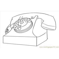 Raw A Phone, Telephone Step 6 Free Coloring Page for Kids