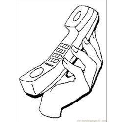 Telephone1 coloring page