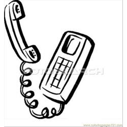 Telephone B W Free Coloring Page for Kids