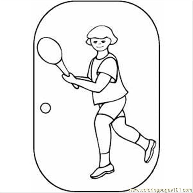 Tennis Player Girl Coloring Page For Kids Free Tennis Printable Coloring Pages Online For Kids Coloringpages101 Com Coloring Pages For Kids