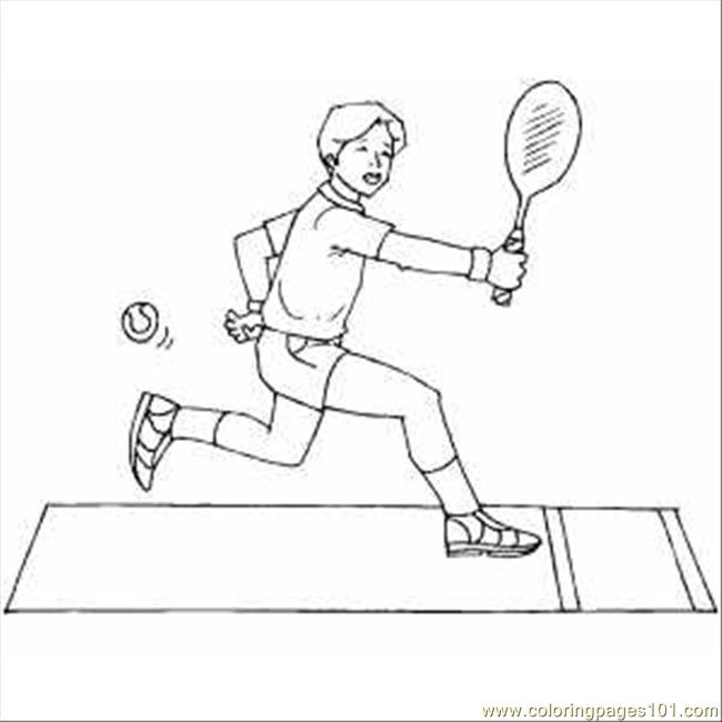 Tennis Player Coloring Page - Free Tennis Coloring Pages ...