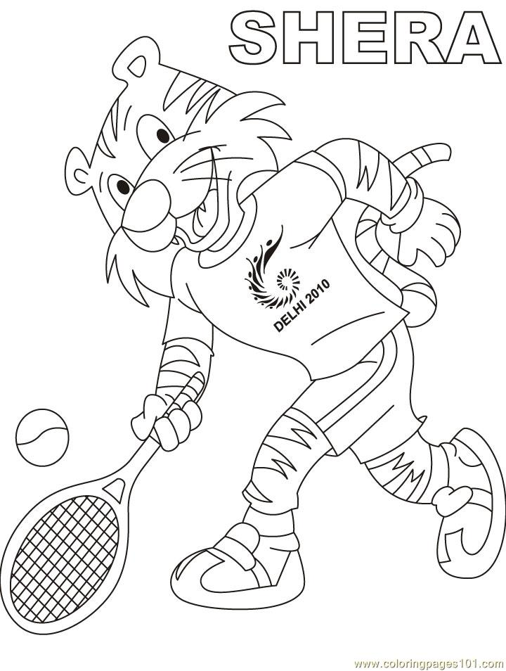 Shera Play Tennis Coloring Page