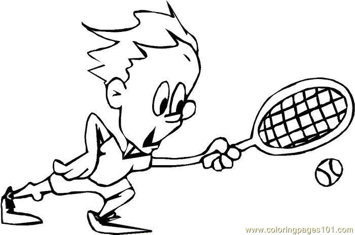 tennis coloring pages - kid play tennis coloring page free tennis coloring pages