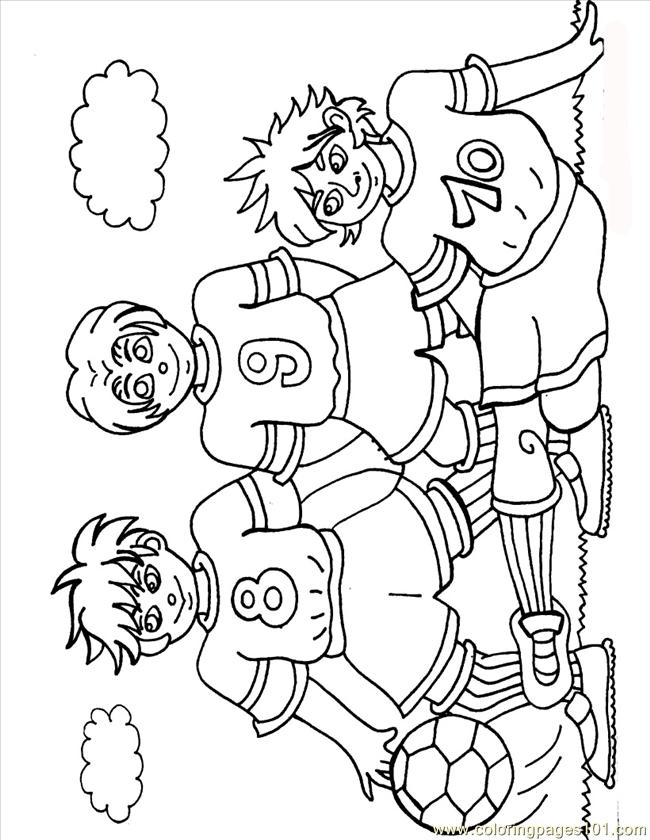 Footballers Source Hbh Coloring Page